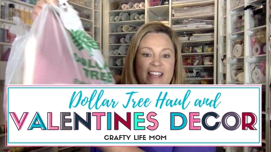 Dollar Tree Haul and Valentines Decor for decorating your home on a budget. Follow the link to see a full video and home tour for Valentines Day home decor.