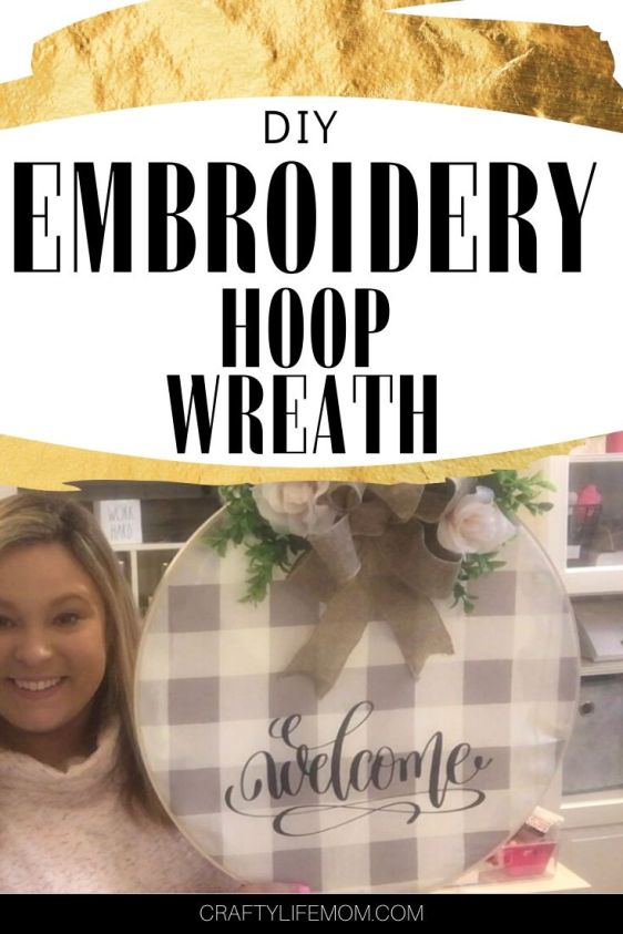 Learn how to create an Embroidery Hoop Wreath using some simple home decor fabric, a large wooden embroidery hoop and some of your favorite florals. Bring it together with a bow to make the perfect home decor feature. #diyembroideryhoopwreath #hoopwreath #embroideryhoop #woodenhoopwreath #wreath #springwreath