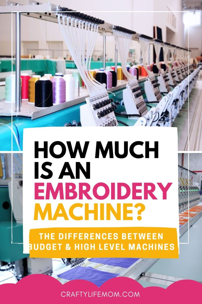 How much does and embroidery machine cost? Determine the differences between budget machines, mid-level and high level machines. #machineembroidery #embroiderymachines #sewing #diycrafts