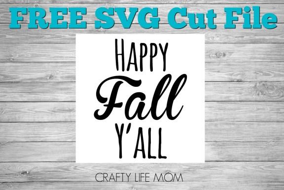 FREE SVG Cute File Happy Fall Yall