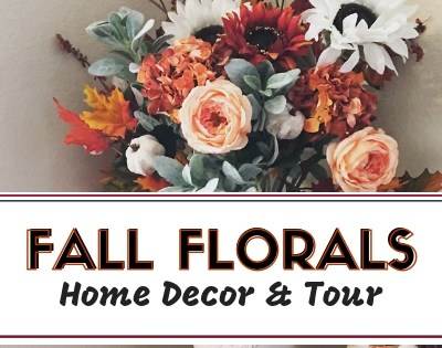 Fall Florals Home Decor update using old faux flowers and a few new picks give this vase a Fall update! Check out the full tutorial and video. #falldecor #falldecorating #fallhometour
