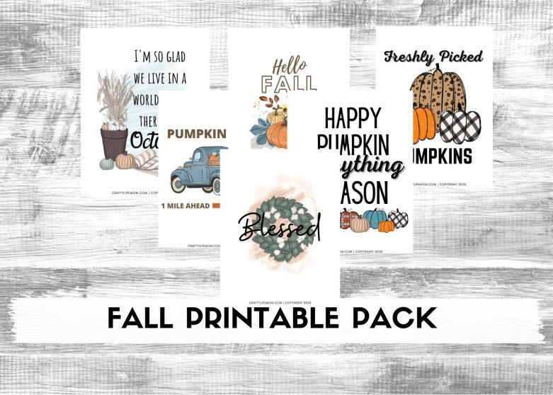 Create Cute fall decor with this printable pack!