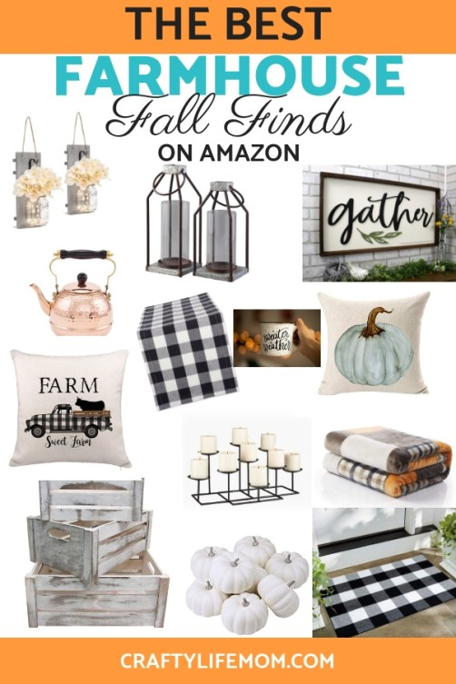 Find the best affordable Fall Farmhouse Finds on Amazon to decorate your home this year. #falldecor #fallfarmhousefinds #amazonprime