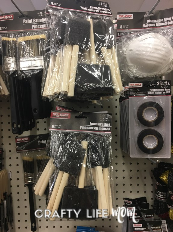Craft paint supplies from the dollar tree. Craft supplies from the dollar tree.