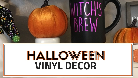 Create these cute DIY Halloween Vinyl Decor items for your home coffee bar or #tiertray this halloween season. This girl also give you the free files to use with your silhouette or cricut machine.