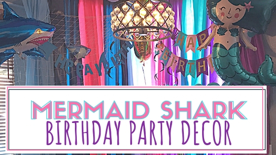 Mermaid Shark Birthday Party Decorations