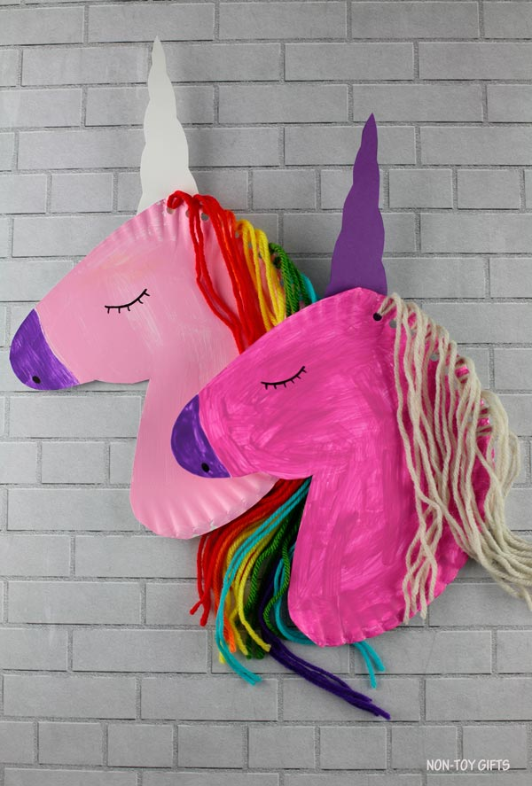 Paper plate unicorn crafts