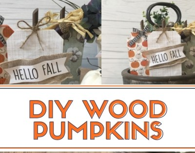 DIY Wood Pumpkins