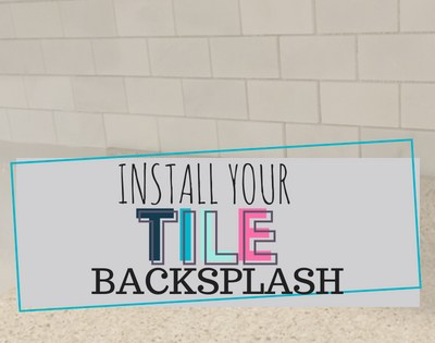 DIY Kitchen Makeover: Backsplash and Accessories