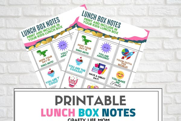 Download and print for Free these adorable Lunch Box Notes for your kids. Back To School is underway and these adorable lunch box notes are sure to help keep the positivity and learning bright regardless of what your back to school learning looks like.