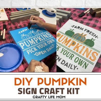 Pumpkin Patch Sign – Craft Kit