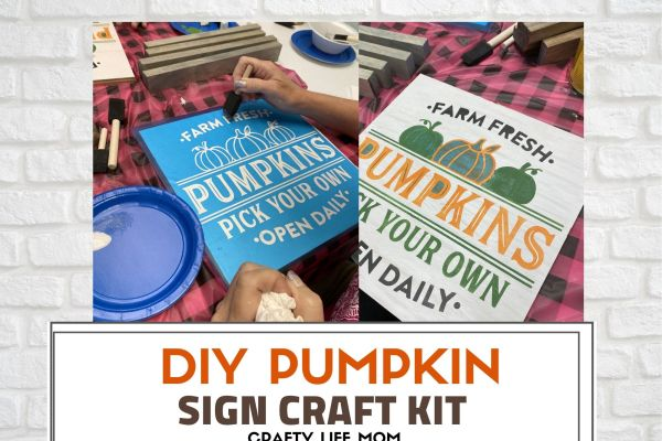Create this Pick Your Pumpkin Patch Sign to complete your Fall home decor look with this simple DIY kit.This kit includes everything you need to make this Pumpkin Patch sign on your own.