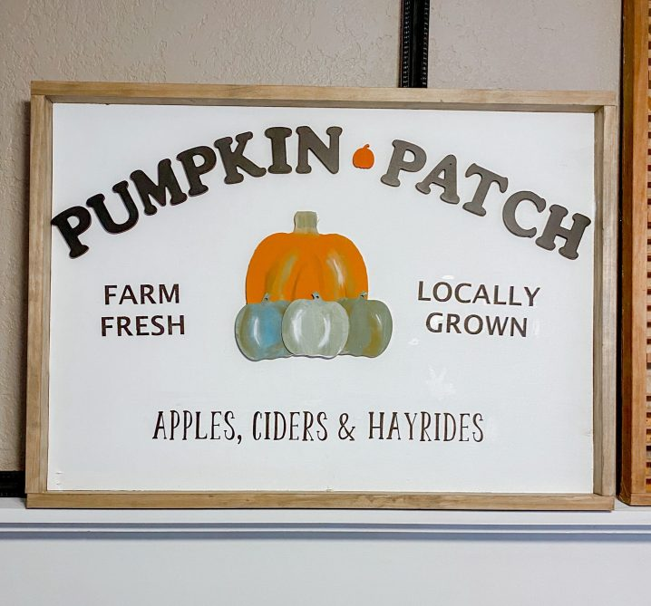 DIY home decor pumpkin patch wood sign. #wood #sign #pumpkin #patch