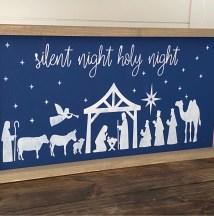 Silent Night DIY Wood Sign Kit