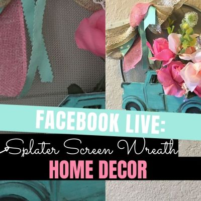 Dollar Tree Splatter Screen Wreath