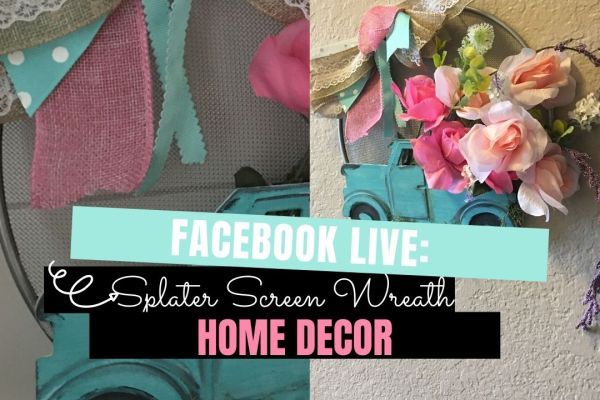 Splatter Screen Wreath DIY | Create this spring truck and flowers splatter screen wreath using just a few items from the #dollartree #dollartreecrafts #craftsanddiy #splatterscreenwreath #splatterscreen