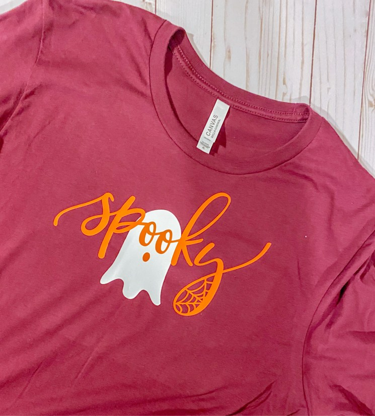 Spooky Glow In the Dark ghost shirt perfect for Halloween! #shahls #glowhtv #ultraweed