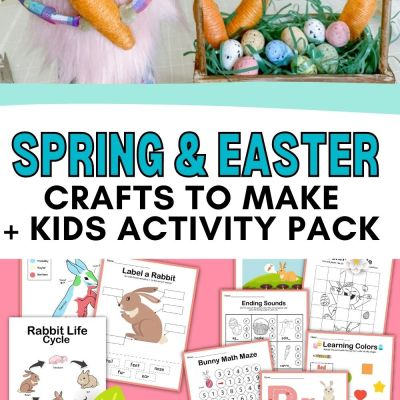 Spring Crafts & Kids Activity Pack