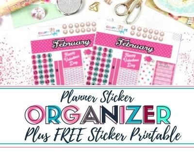 Mollie Ollie Sticker Organizer Plus Free Sticker Print and Cut File