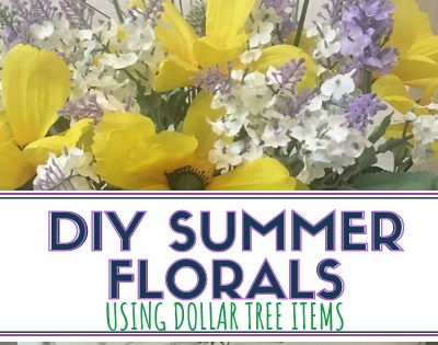 DIY Summer Floral Arrangement