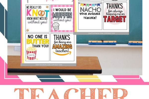 Download these Free printable gift tags to use for easy and inexpensive teacher appreciation gift ideas