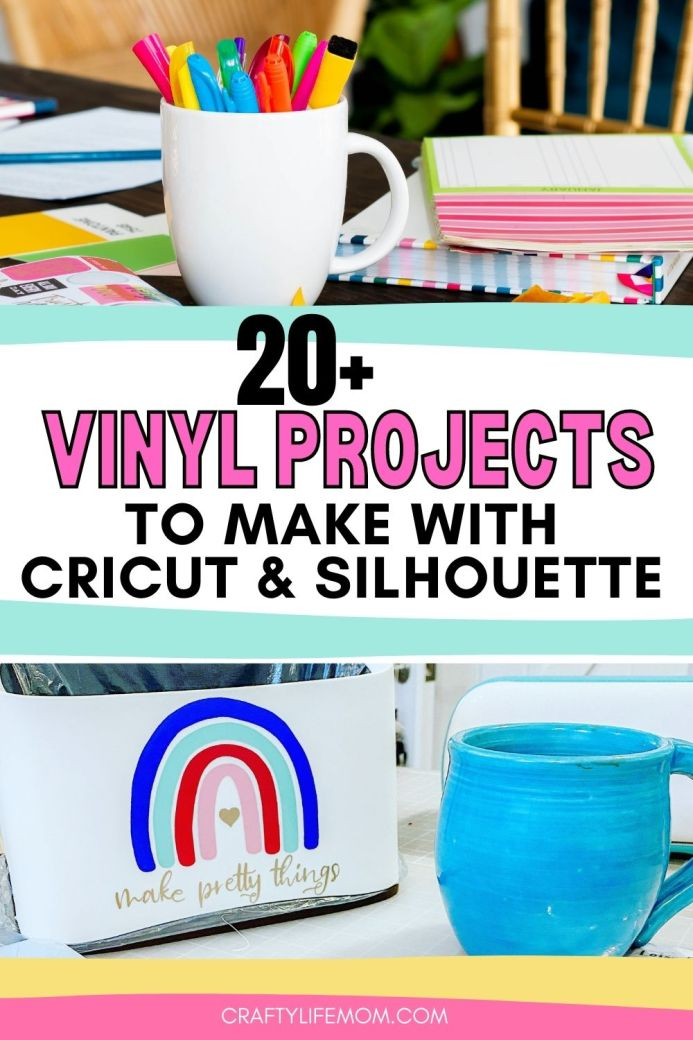 Learn to create these Vinyl Adhesive Crafts and DIY Projects you can make using these simple and easy tips and DIYs. In this tutorial, I share how I added a vinyl decal to personalize items in my craft. Plus, you will find several other vinyl projects you can recreate or use as inspiration.