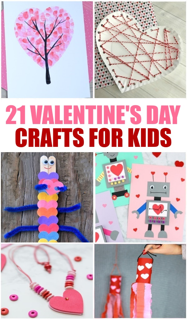 Over twenty Valentines Day Crafts for Kids plus download this free Valentines Day Craft printable.