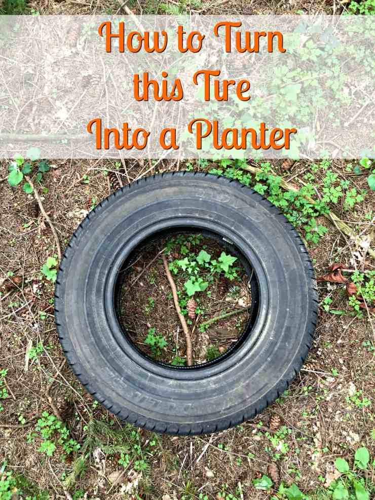 How to make inside out tire planters crafty little gnome for How to use old tires in a garden