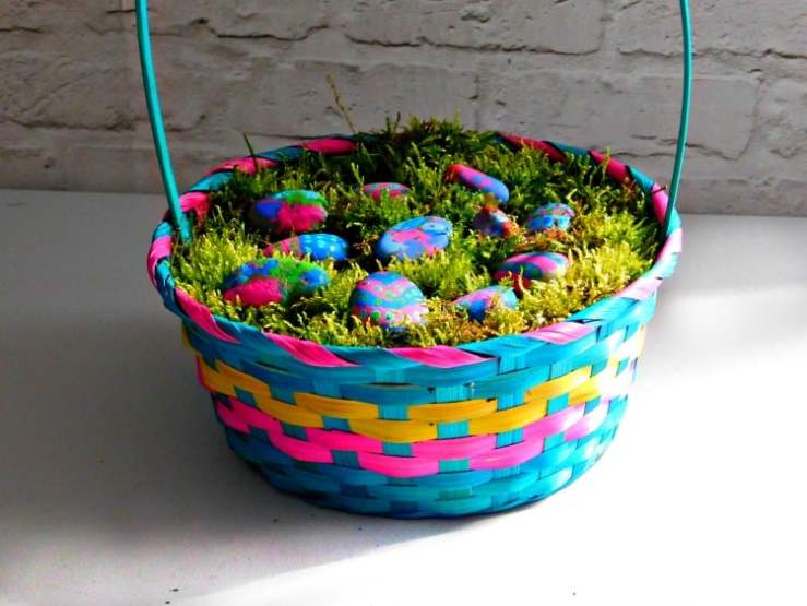 Painted Stone Easter Egg Craft for Kids