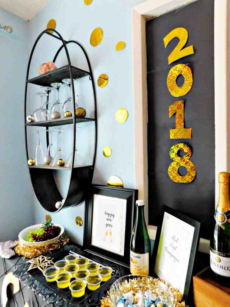 new years eve party champagne bar inspiration