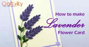 Quilling Lavender Flower Card