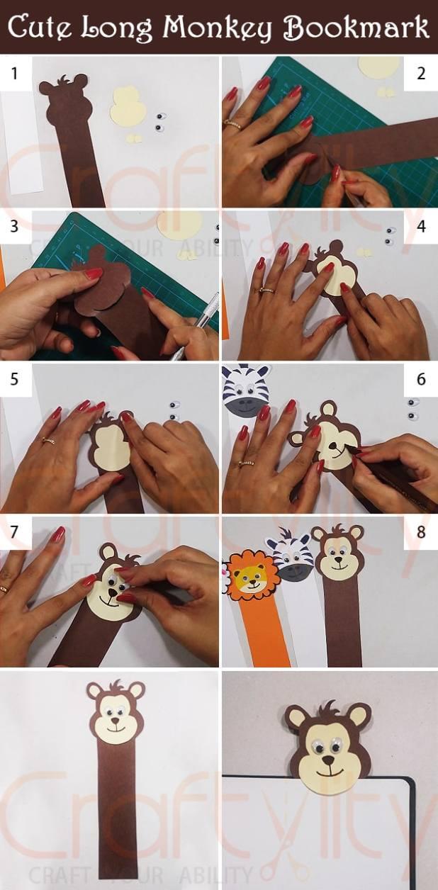 Cute Monkey Bookmark