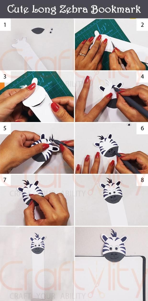 Cute Zebra Bookmark