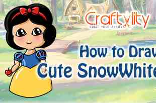 How to draw cute little Snow White