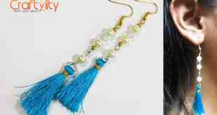 DIY Pearl Tassel Earrings