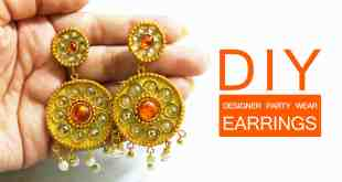 How to make Designer Party Wear earrings