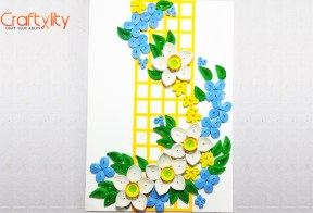 Diy Easy Paper White Quilling Flower Card Craftylity