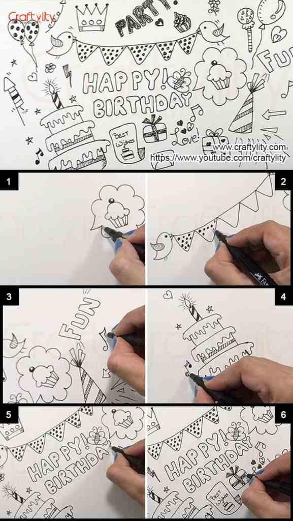 Birthday Doodle - Craftylity