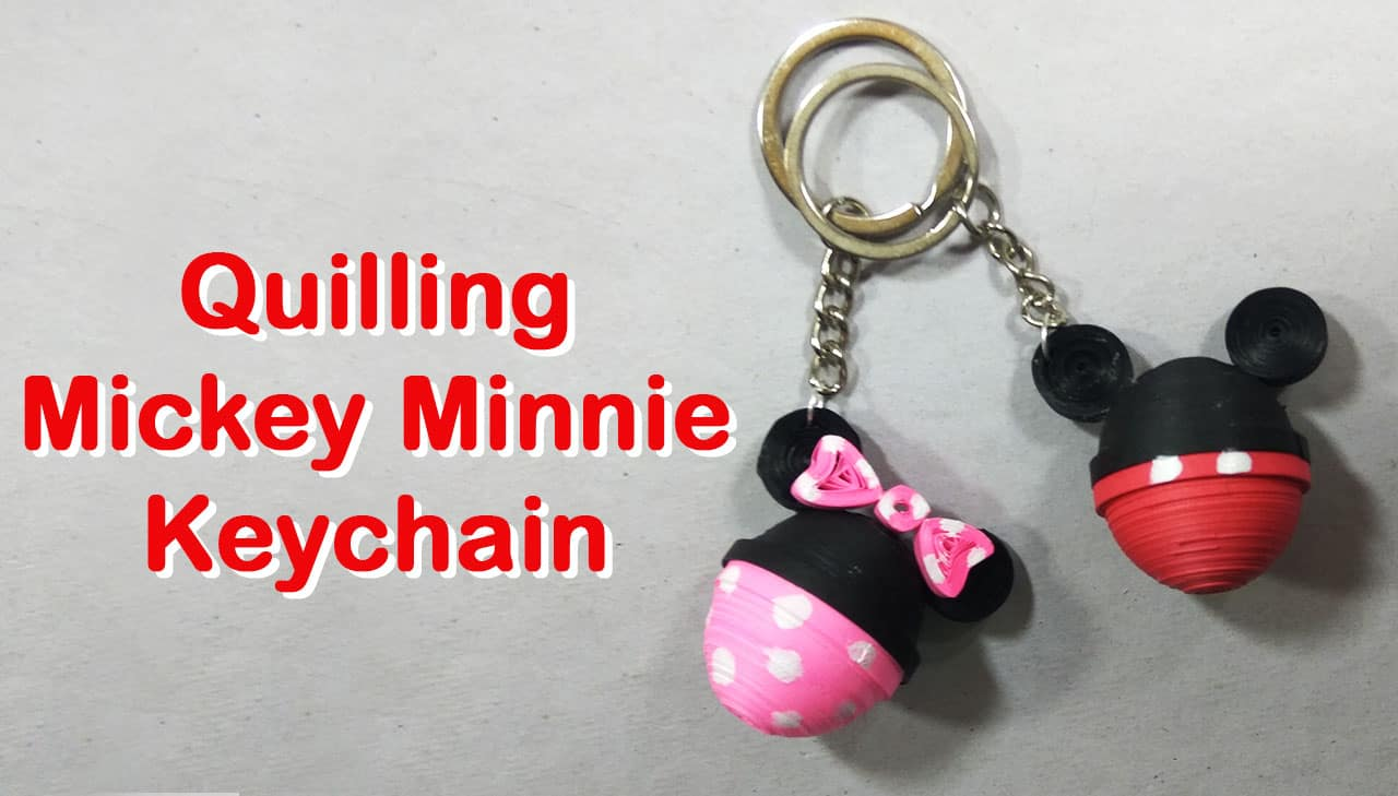 Diy Quilling Mickey Minnie Mouse Keychain Craftylity Origami Nut Simple Kusudama