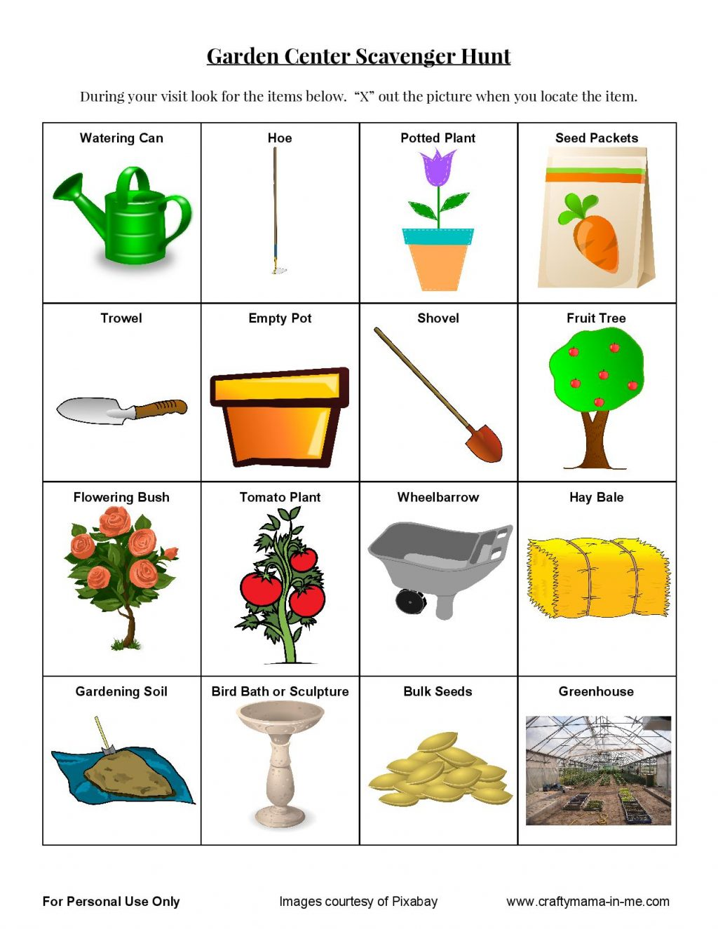 Printable Gardening Journal Free Learning Resources For