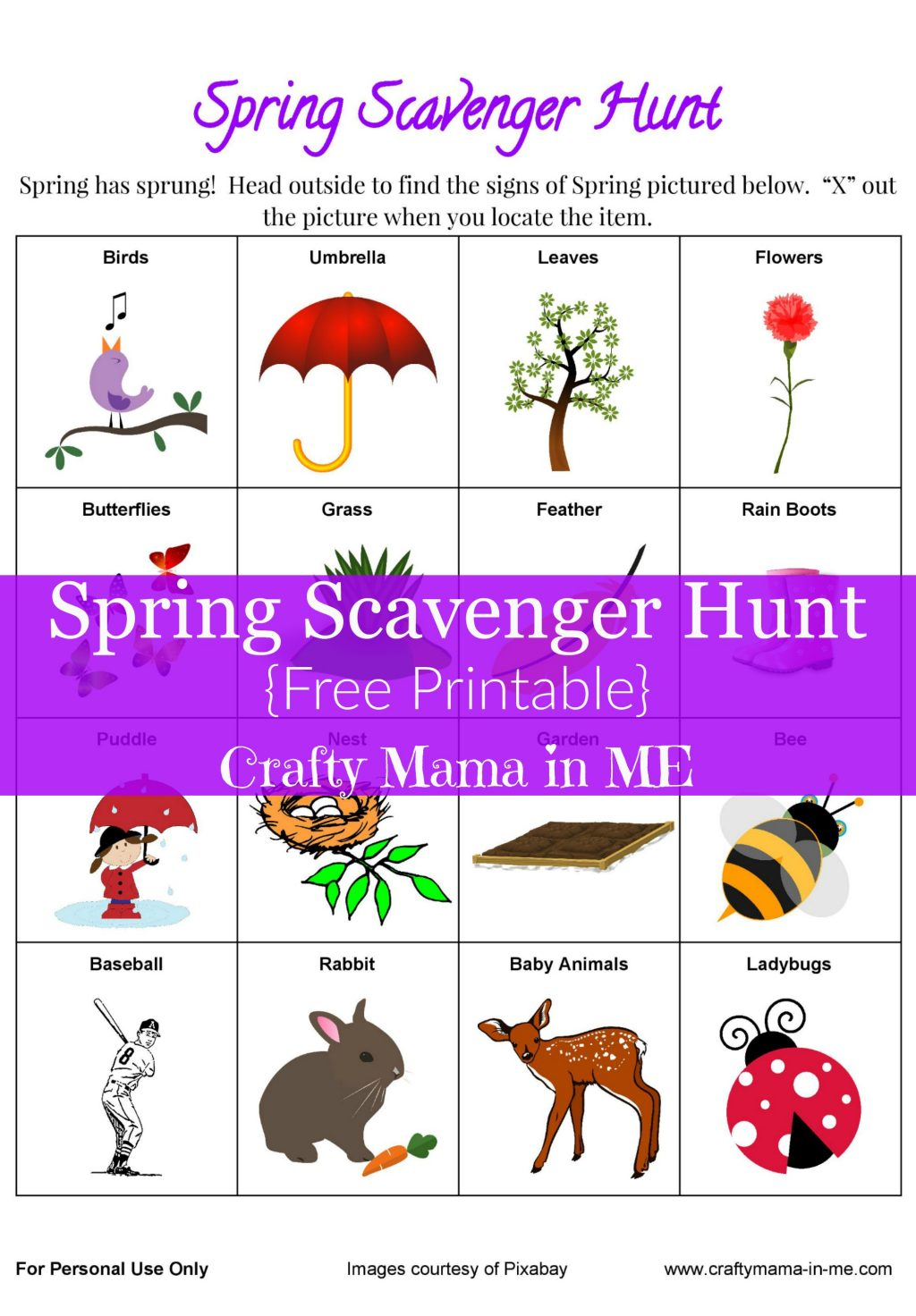 Get Outside With A Spring Scavenger Hunt Free Printable