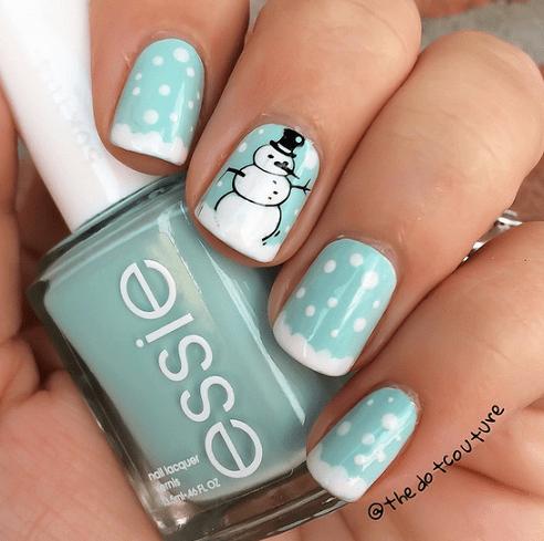 snowman-winter-nail-designs
