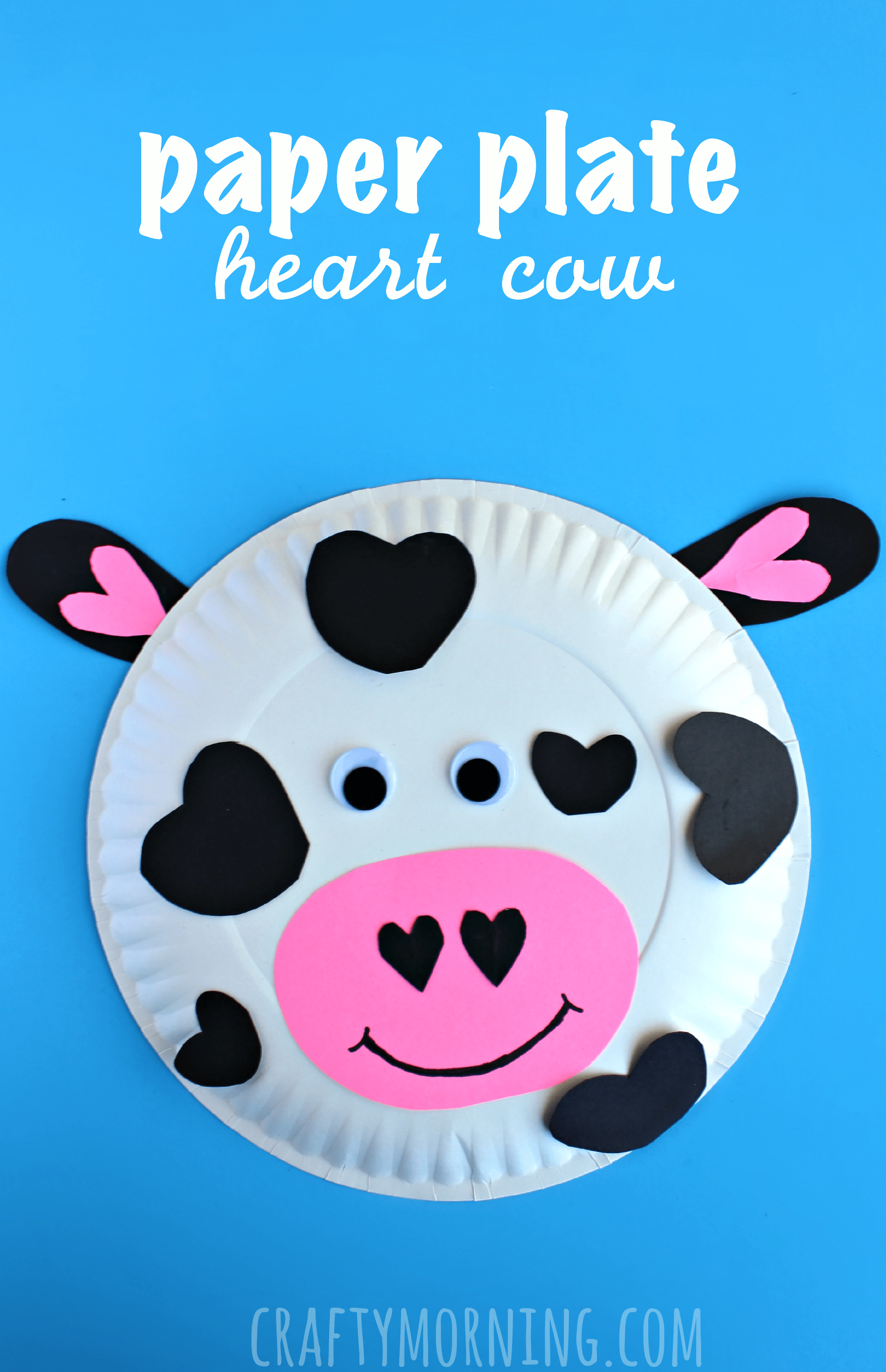 Paper Plate Cow Valentine Craft For Kids