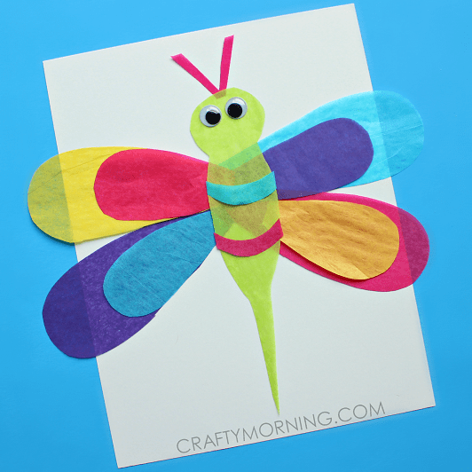 tissue-paper-dragonfly-craft-for-kids