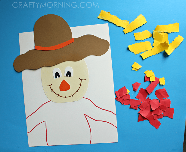 torn-paper-scarecrow-fall-craft-for-kids-