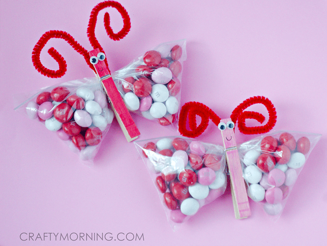 Valentine MampM Butterfly Treats Crafty Morning