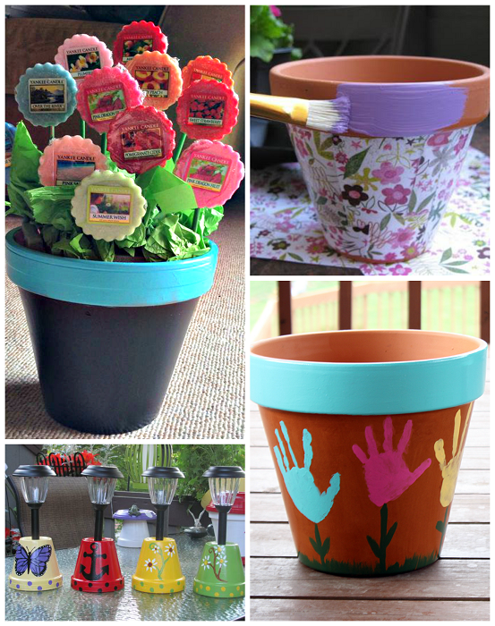 Flower Pot Gift Ideas For Mothers Day Crafty Morning
