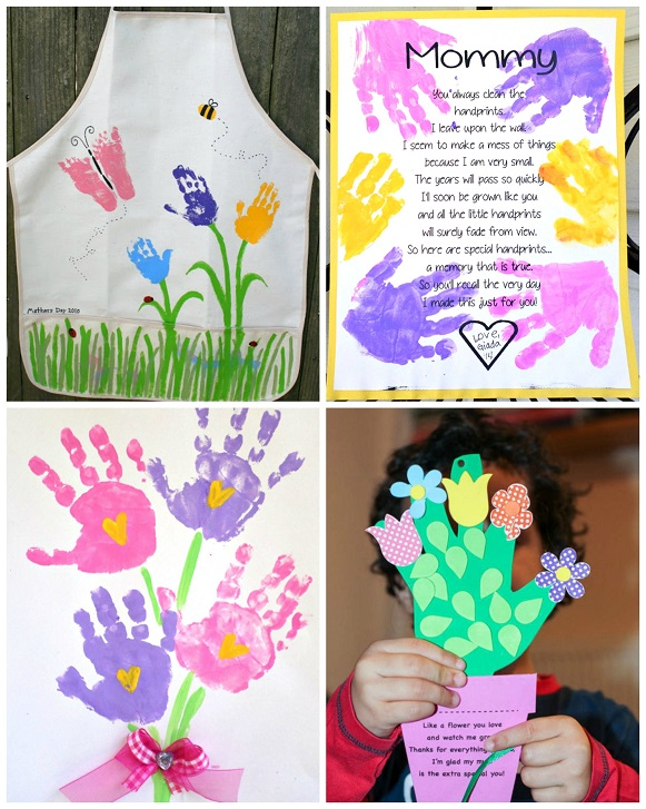 Mother's Day Handprint Crafts & Gift Ideas for Kids to ...