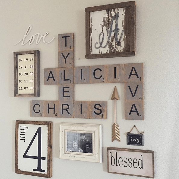 Decorative Letter Blocks For Home