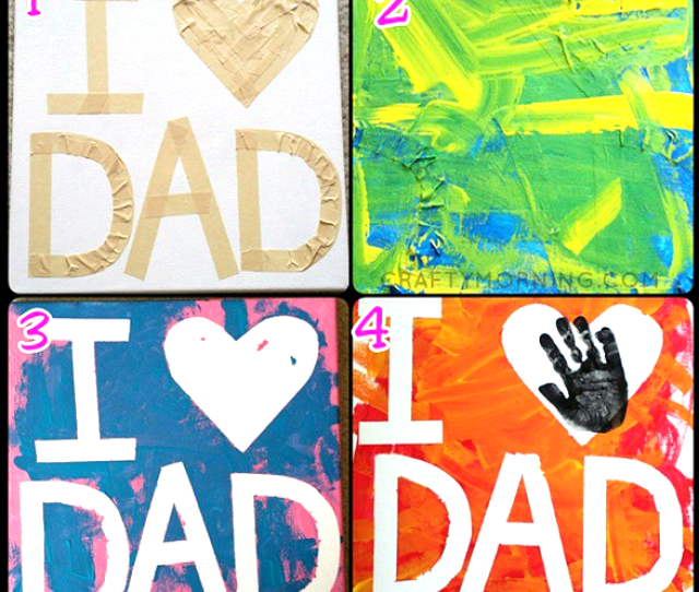 Tape Resist Dad Fathers Day Craft